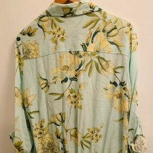 New York & Company Tops - New York & Co. Floral Tie-Front Blouse
